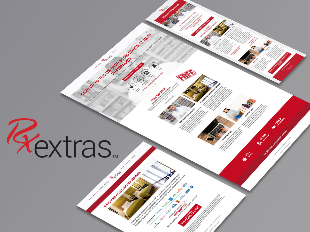 Rx Extras Branding and Web Design